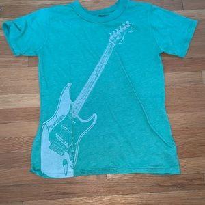 Green boys guitar tee shirt Chaser size 7/8